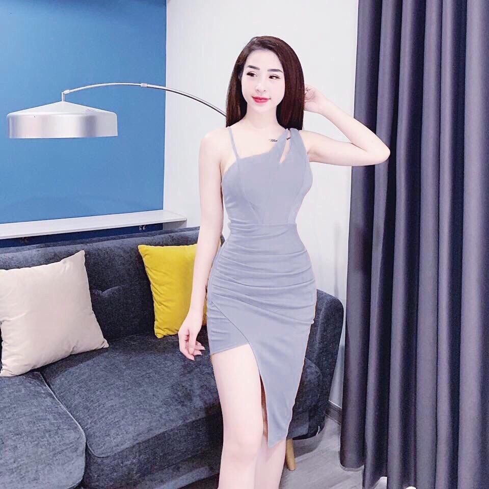 Đầm Ôm Body Chéo Vai Thời Trang Young Lady Giảm Duy Nhất Hôm Nay