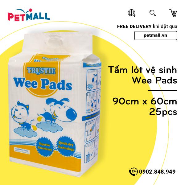 Tấm lót vệ sinh cho chó Wee Pads 90cm x 60cm - 25pcs - khử mùi diệt khuẩn