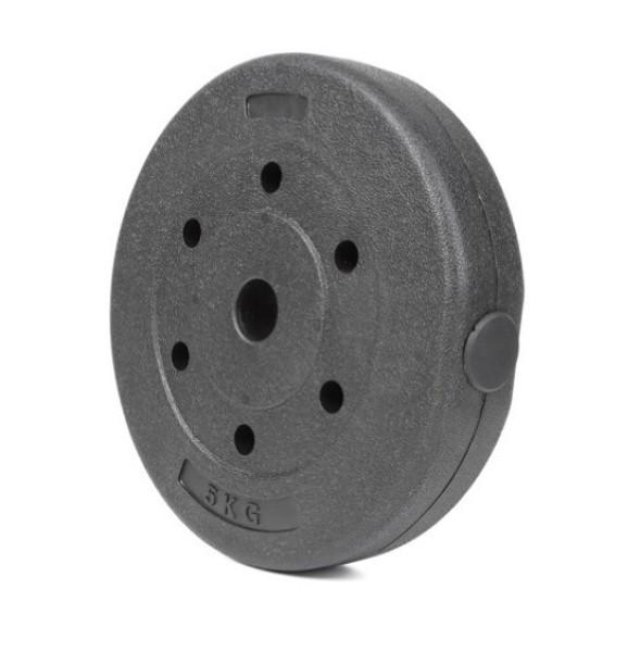 [HCM]Vỏ tạ miếng nhựa đen 5kg (1 cái)