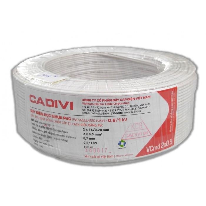 Dây điện đôi mềm Cadivi 2x0.5 100 mét