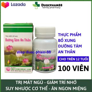 Viên uống ngủ ngon thảo dược Dưỡng Tâm An Thần, giảm stress mất ngủ, suy nhược cơ thể , giúp ăn ngon - Hộp 30 viên HSD 2023 thumbnail