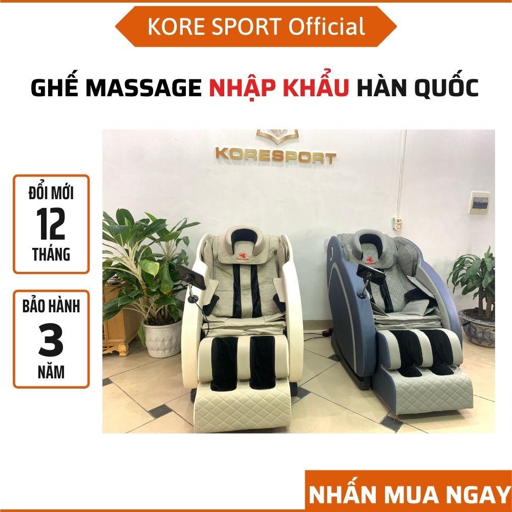 Ghế massage toàn thân không trọng lực Kore Sport, ghế mát xa toàn thân Nhật Bản giá rẻ matxa lưng cổ chân vai gáy 2021, ghế massage cao cấp