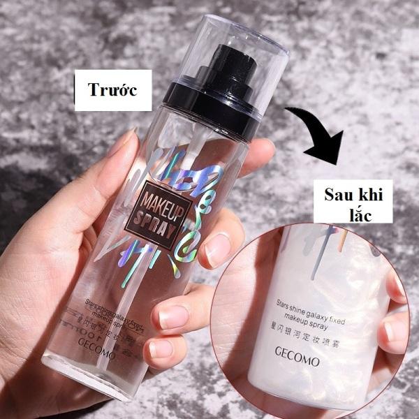 Xịt cố định lớp Makeup nhũ GECOMO Makeup Spray