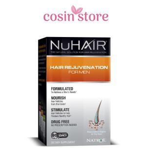 Viên uống Natrol NuHair Hair Rejuvenation for Men 60 viên - Nu Hair hỗ trợ mọc tóc, ngăn ngừa rụng tóc ở nam giới thumbnail