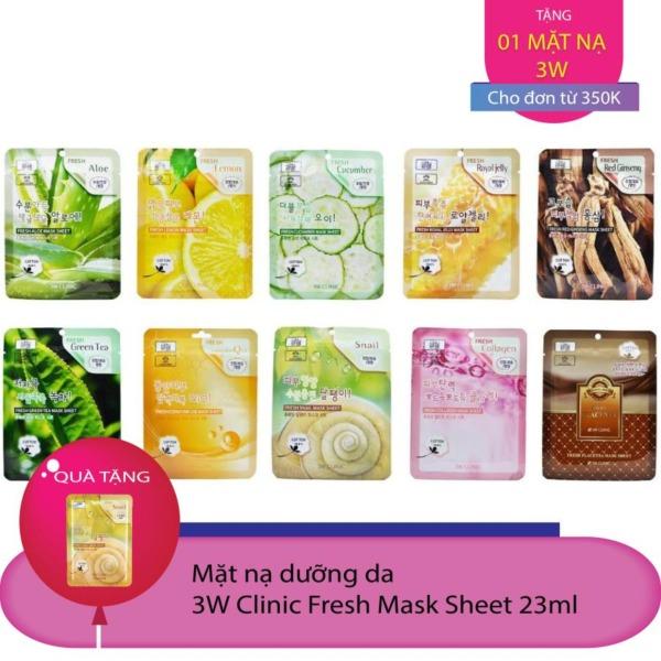 Combo 10 Mặt nạ dưỡng da 3W CLinic Fresh Mask Sheet 23ml x10 tốt nhất