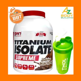 Thực phẩm bổ sung S.A.N Titanium Whey Isolate Supreme - Protein thuỷ phân tinh khiết hỗ trợ hấp thu nhanh - Tặng kèm bình lắc THOL màu ngẫu nhiên thumbnail