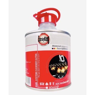 Dung dịch vệ sinh kim phun- làm sạch kim phun xăng béc xăng buồng đốt động cơ 4T Spray king lon 80ml-- thumbnail