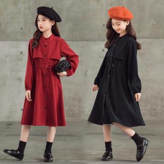 Váy Bé Gái, Váy Lót, Váy Lót Nhung Kẻ, Kiểu Hàn Quốc, Váy Bé Gái Cỡ Lớn, Váy Bé Gái Mỏng