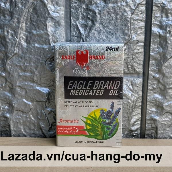 Dầu Gió Trắng Singapore Con Ó Eagle Brand 24ml - Mùi Lavender