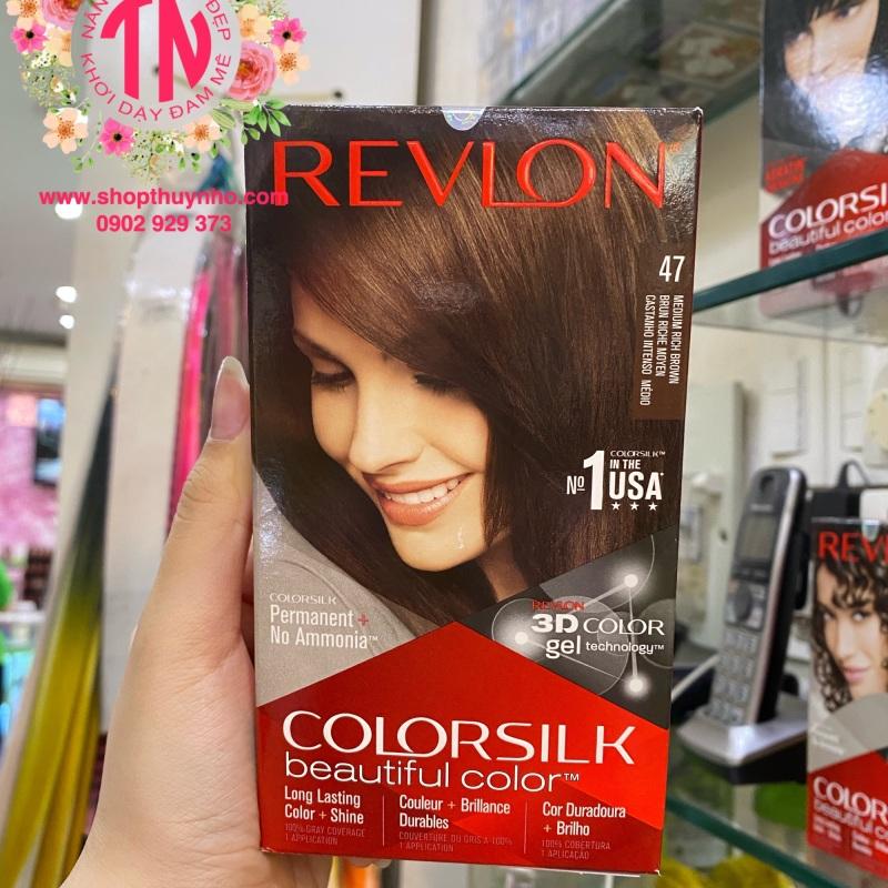 Thuốc nhuộm tóc Revlon ColorSilk số 47 - Nâu chocolate sáng nhập khẩu