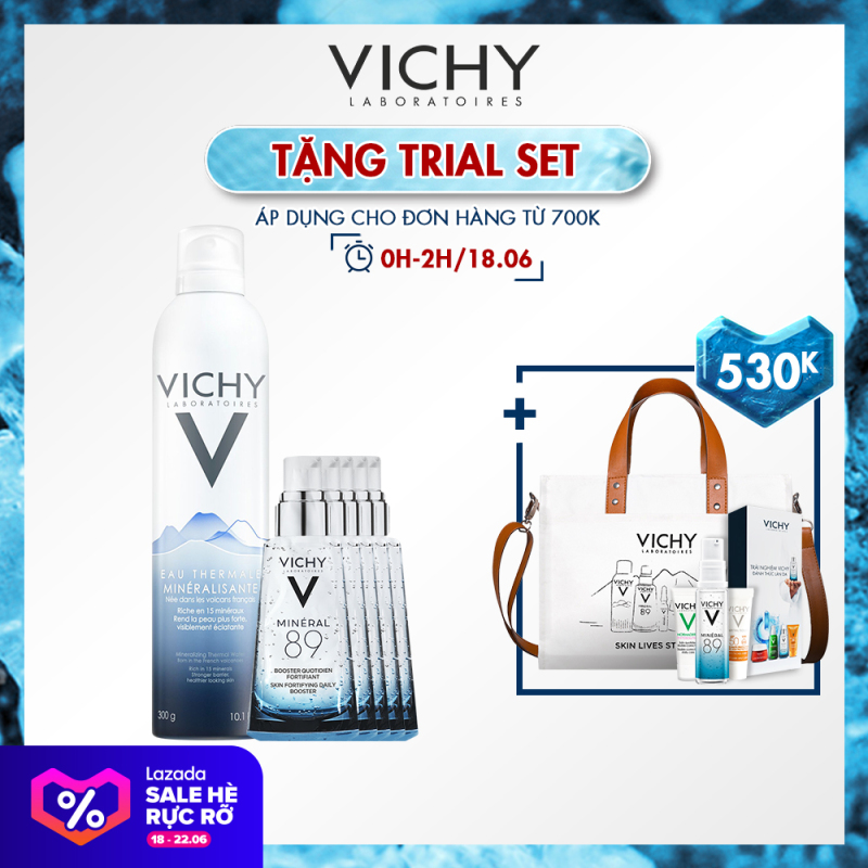 Bộ xịt khoáng dưỡng da Vichy Mineralizing Thermal Water 300ML Cung cấp độ ẩm cho da mịn màng da trắng sáng mượt mà chỉ sau một thời gian ngắn giá rẻ