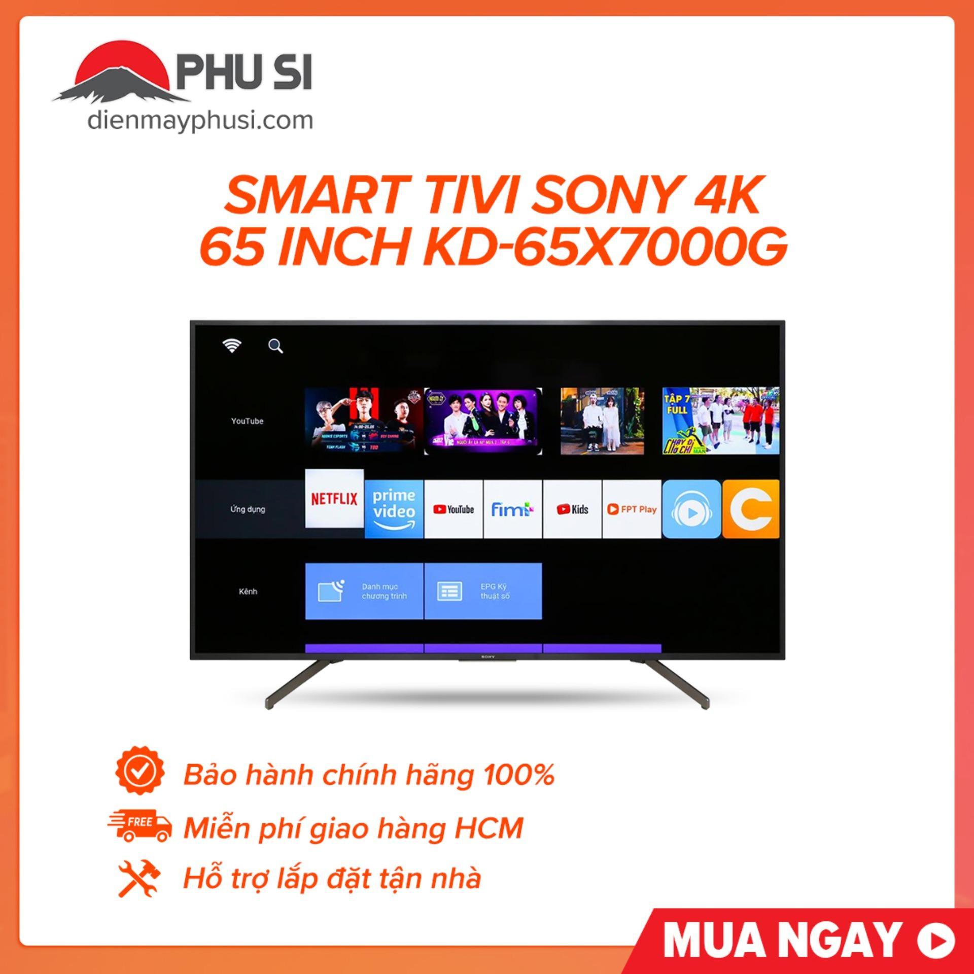 Bảng giá Smart Tivi Sony 4K 65 inch KD-65X7000G