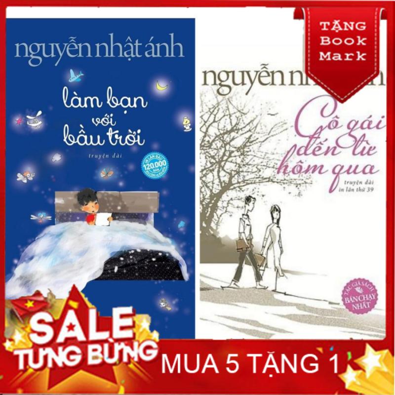 SÁCH HAY - Sách - Combo Nguyễn Nhật Ánh : Làm Bạn Với Bầu Trời + Cô Gái Đến Từ Hôm Qua