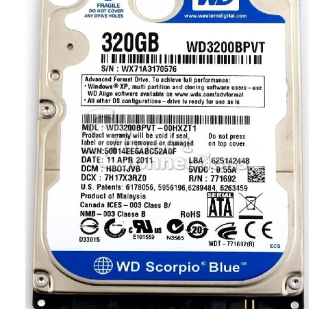 Giá Ổ Cứng HDD Laptop 320GB - Bảo hành 12 tháng