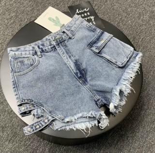 [HCM]quần short jean cạp cao tưa rua kiểu dáng cá tính trẻ trung 324 thumbnail