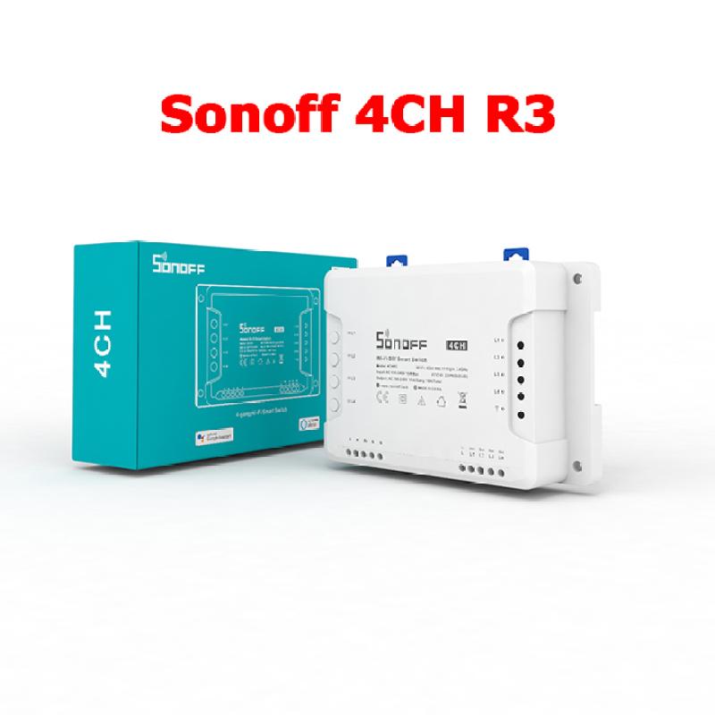 Công tắc wifi 4 kênh thông minh điều khiển từ xa qua điện thoại SONOFF 4CH R3