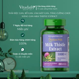 Thải độc gan, bổ gan, làm mát gan, tăng cường chức năng gan Milk Thistle Extract 1000mg 90-180 viên Puritan s Pride thumbnail