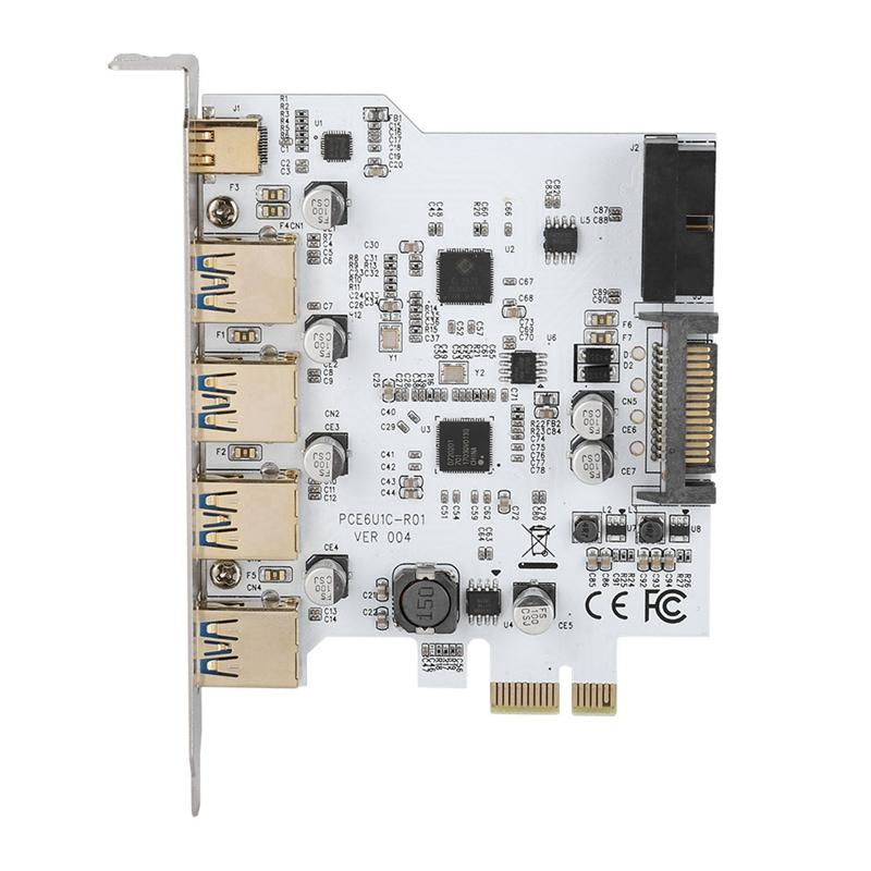 Giá Pci-E To Usb3.0 4-Port Type-C Adapter Expansion Card Connector Dual Interface For Windows Xp Vista Windows 7 Linux Windows 8