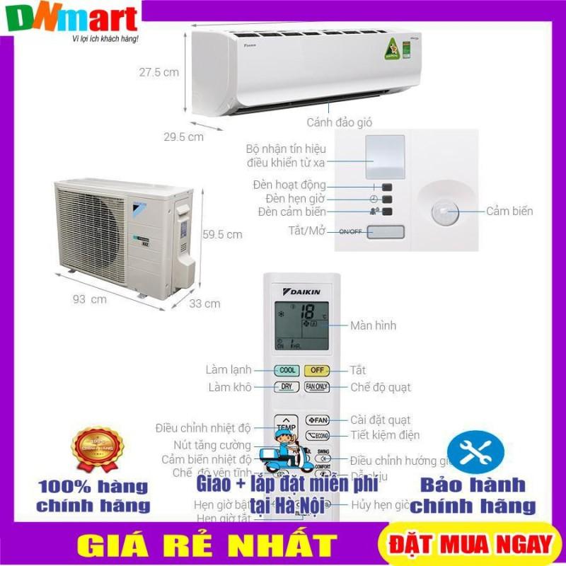Bảng giá Điều hòa Daikin 18000BTU 1 chiều Inverter R32 Cao cấp FTKC50TVMV/RKC50TVMV