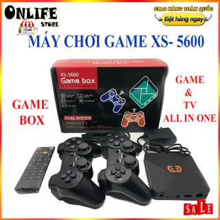 Máy chơi gamer điện tử, Bảng điều khiển trò chơi điện tử 4K HDMI USB với 5600+ trò chơi và Android Tv , Máy chơi game cầm tay xs- 5600, Game box, Máy chơi Game 4 nút, Máy chơi game fifa pes, Ps1, Ps2, Ps3, Ps4, NES thumbnail