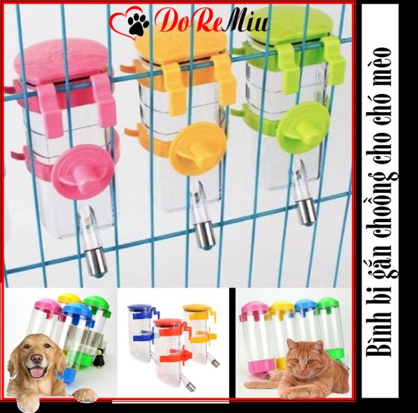 Doremiu- Bình uống nước thú cưng gắn chuồng (4 loại) Cấp nước tự động cho chó mèo