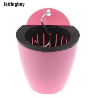 Jettingbuy Làm Vườn Chậu Hoa Tường Sáng Tạo Lười Biếng Chậu Hoa Nhựa Tấm Màu Xanh thumbnail