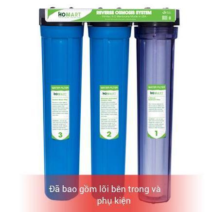 Bộ lọc nước sinh hoạt - Lọc nước thô đầu nguồn 3 cấp ly 20INCH Chuẩn dùng cho gia đình