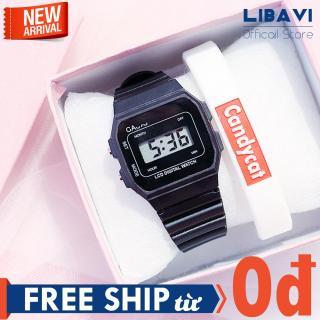 [TẶNG VÒNG TAY NGẪU NHIÊN] Đồng hồ Unisex Candycat C24, đồng hồ điện tử chạy pin, dây đeo nhựa, kháng nước, chống trầy nhẹ (6 màu) thumbnail