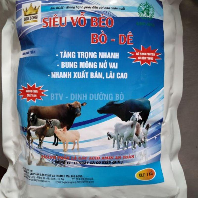 siêu vỗ béo bò dê 1kg/gói