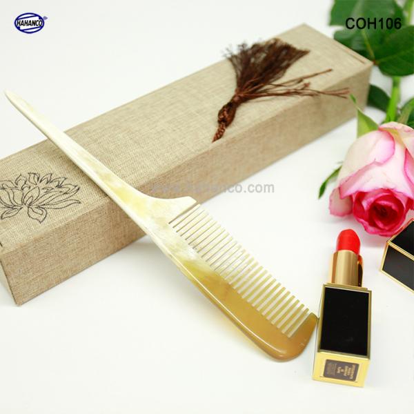 Lược sừng xuất Nhật (Size: M - 19cm) Lược đuôi chuột [COH106] HAHANCO /Chăm sóc tóc