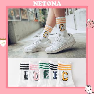 Tất cao cổ Netona tất nữ in hình chữ B phong cách trẻ trung năng động TN24 thumbnail
