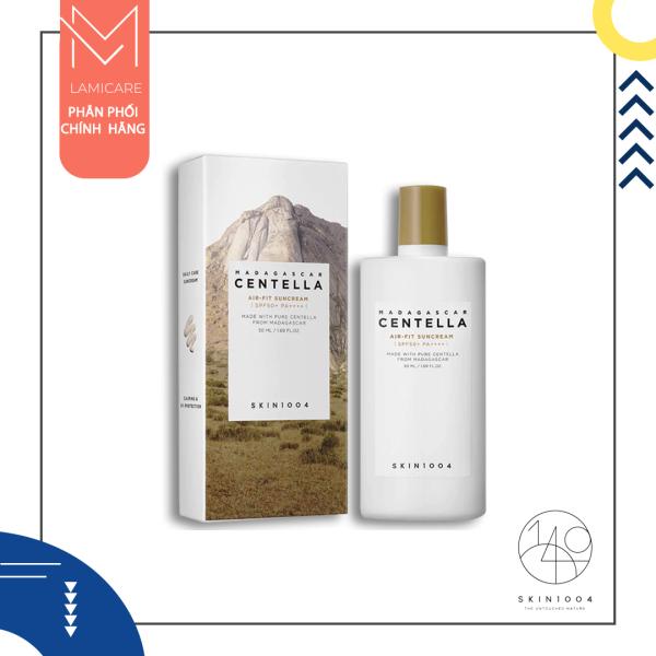 Skin1004 Kem chống nắng chống trôi, chiết xuất rau má làm mềm và bảo vệ da madagascar centella air-fit suncream spf50+ pa++++ 50ml Lamicare