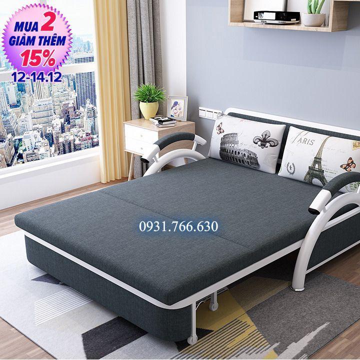 Giường Sofa Gấp Gọn Thành Ghế. KT: 1m3 X 1m92 Không Thể Rẻ Hơn tại Lazada