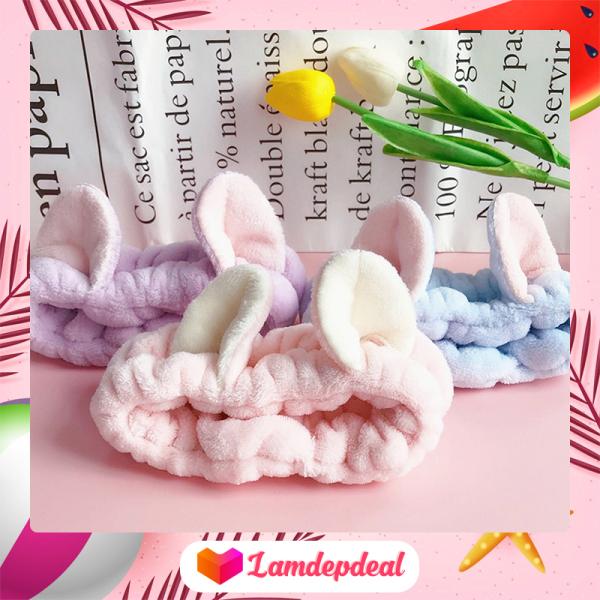 ♥ Lamdepdeal - Băng đô rửa mặt - trang điểm hình tai mèo dễ thương Hàn Quốc - Dụng cụ trang điểm
