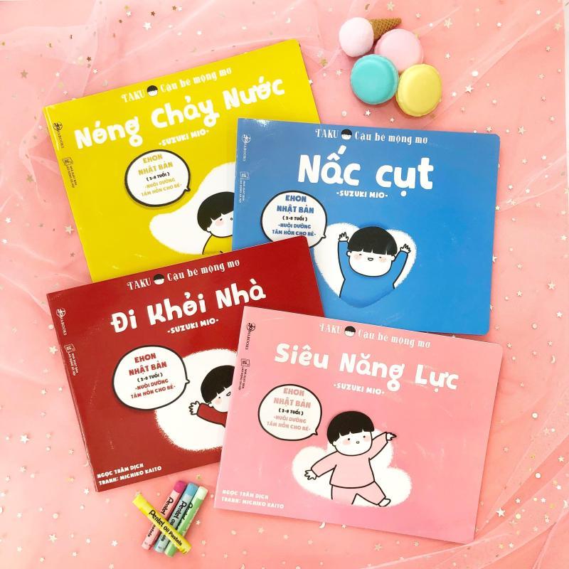 Mua Sách Ehon - Combo 4 cuốn Taku Cậu Bé Mộng Mơ - Cho bé 2 - 8 tuổi