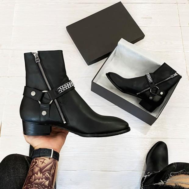 [ Cao cấp ] Harness boots da bò đế phíp gỗ, sản phẩm tốt, chất lượng cao, cam kết như hình, độ bền cao, xin vui lòng inbox shop để được tư vấn thêm về thông tin giá rẻ