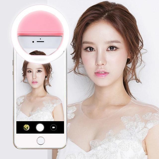 Đèn LED selfie trợ sáng pro chụp hình tự sướng dùng pin