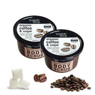 TẨY DA CHẾT toàn thân Organic Shop Coffee & Sugar Body Scrub 250ml xuất xứ Nga thumbnail