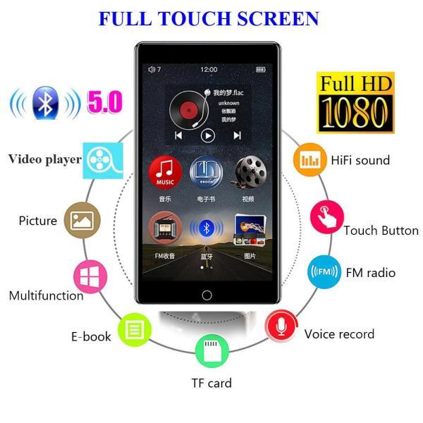RUIZU H1 4 inch Touch Screen Bluetooth5.0 MP4 Player With Built-in Speaker Support FM Radio Recording Video E-book MP3 Player - Máy nghe nhạc MP3 RUIZU H1 Màn hình cảm ứng Kết nối Bluetooth Dung lượng 8GB Thu âm Nghe ebook