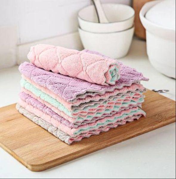 Set 5 khăn lau đa năng 2 mặt, mềm mại, siêu thấm - Soleil shop