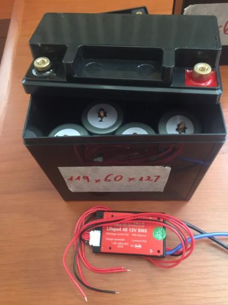 Ac quy xe máy Lithium LifePO4 12.8V 6Ah 119x60xcao127mm