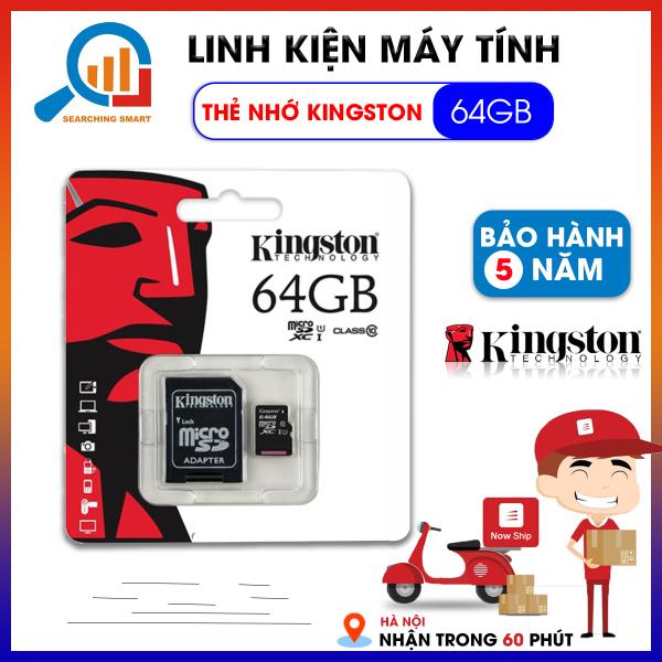 Thẻ nhớ 64GB Micro SD Kingston Class 10 - Bảo hành 5 năm