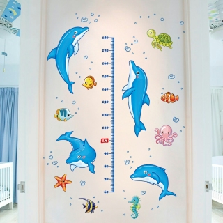 Decal dán tường THƯỚC ĐO CHIỀU CAO cho bé nhiều mẫu- Tranh dán tường trẻ em thumbnail