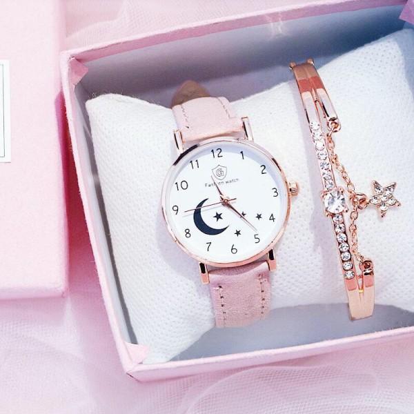 Nơi bán Đồng hồ thời trang nữ Fashion Watch mặt trăng khuyết dây da nhung mẫu mới