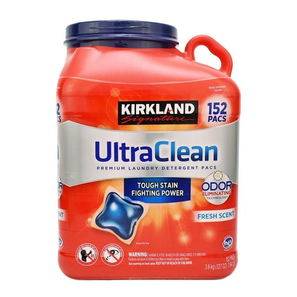 VIÊN GIẶT QUẦN ÁO KIRKLAND ULTRA CLEAN 152 VIÊN