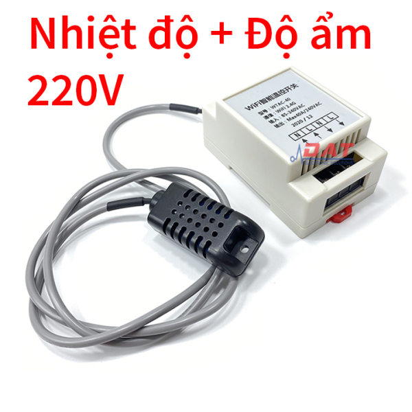Bảng giá [HCM]Bộ Kiểm Soát Nhiệt Độ Độ Ẩm Qua Wifi 220V WTAC-40B