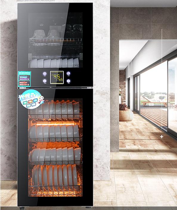 Tủ sây chén bát 150L màu đen-Máy sấy chén bát 150L- Công nghệ sấy diệt trùng khử khuẩn- Kính cường lực cao cấp- Bảo hành 1 năm