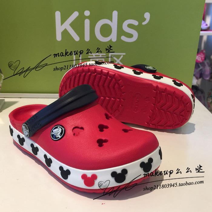 Giá bán Dép sục trẻ em Dép sục C.R.O.C.S Crocband viền Mickey mouse trẻ em màu đỏ