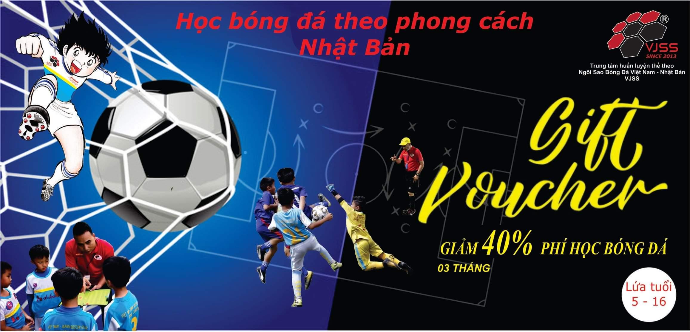 [Kings Deal] HCM - VJSS Trung tâm bóng đá thể thao Việt Nam - E-Voucher giảm 40% học phí khóa học 3 tháng