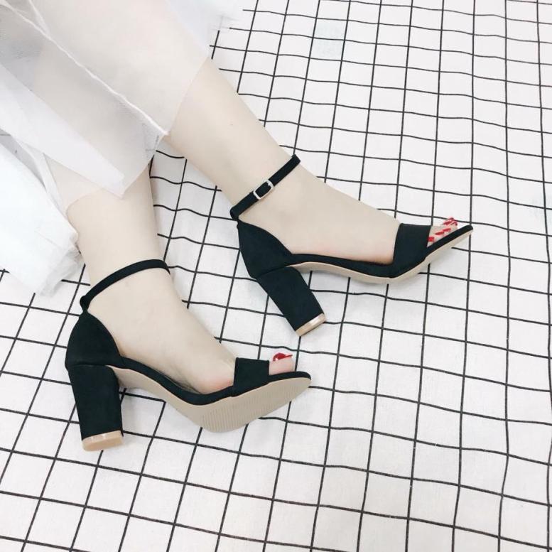 Giày cao gót 7 phân quai ngang cao cấp Myseo giá rẻ